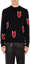 Rag & Bone Men's Jackson Arrow-Pattern Wool Sweater-BLACK
