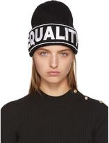 Versace Black 'Equality' Beanie