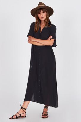 Amuse Society Tranquillo Long Black Shirt - viscose | black | M . - Black/Black