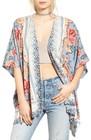 womens angie scarf print kimono