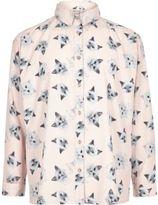River Island Girls pink print oversized shirt