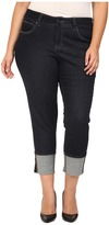Jag Jeans Plus Size Evan Long Cuff Slim Ankle in Rinse Capital Denim