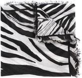 Roberto Cavalli zabra print scarf