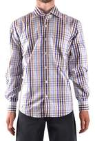 Z Zegna Men's Multicolor Cotton Shirt.