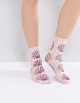 Monki Shell Print Socks
