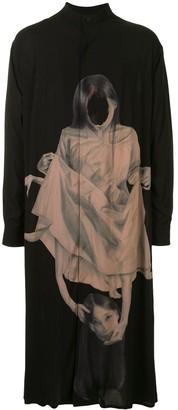 Yohji Yamamoto Two Faced Longline Shirt