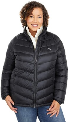 L.L. Bean L.L.Bean Plus Size Ultralight 850 Down Jacket (Black) Women's Clothing