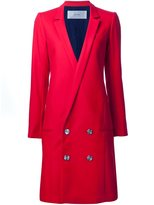 Julien David low double-breasted buttons coat - women - Wool - S
