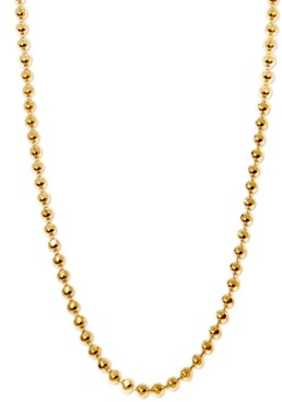 """Alex Woo 20"""" Ball Chain Necklace in 14k Gold"""