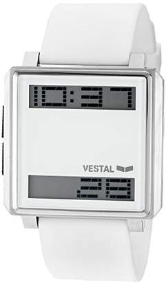 Vestal Men's TRADR05 Transom Digital Display Japanese Quartz White Watch