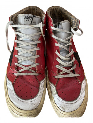 Golden Goose Francy Red Leather Trainers