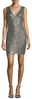Alice + Olivia Simona Embellished Sheath Dress, Silver