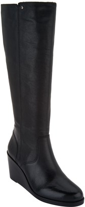 Frye Leather Tall Shaft Wedge Boots - Emma Wedge