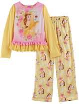 Disney Disney's Beauty and the Beast Belle Girls 4-8 Ruffle Hem Top & Bottoms Pajama Set