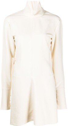 Jil Sander High Collar Pleated Back Shirt