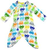 I Play Baby Boy Brights Organic Muslin Wrap Gown