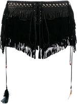 Roberto Cavalli fringed shorts
