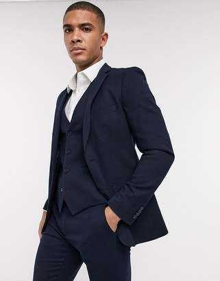 French Connection wedding slim fit flannel suit jacket