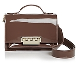 Zac Posen Earthette Accordion Patent Leather Shoulder Bag