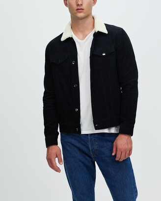 Staple Superior - Men's Black Jackets - Staple Cord Sherpa Jacket - Size XS at The Iconic