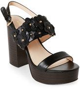 Nine West Black Kimmy Chunky Platform Sandals