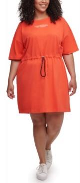 Calvin Klein Plus Size Cotton Drawstring T-Shirt Dress