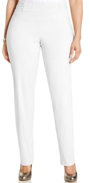JM Collection Plus & Petite Plus Size Tummy Control Slim-Leg Pants, Created for Macy's