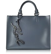 Karl Lagerfeld Women's Grey Leather Tote.