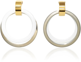 Marni Silver and White Hoop Earrings