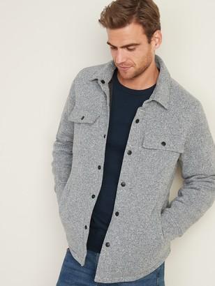 Old Navy Fleece-Knit Snap-Front Shirt Jacket for Men