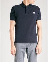 Stone Island Logo-embroidered Cotton-piqué Polo Shirt