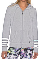 Betsey Johnson Logo Stripe Icy Wash Jacket