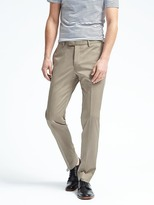 Banana Republic Slim Stretch Cotton Solid Suit Trouser