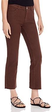 Vero Moda Sheila Mr. Slim Kick Flare Jeans in Coffee Bean