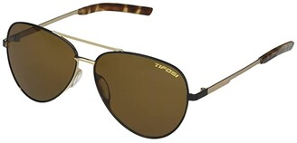 Tifosi Optics Shwae (Midnight Gold Frame Brown Lens) Sport Sunglasses