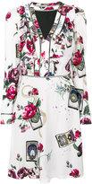 Roberto Cavalli rose print dress - women - Silk/Viscose - 40