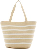 Magid Stripe Straw Tote