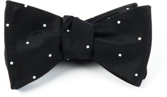 Tie Bar Satin Dot Black Bow Tie