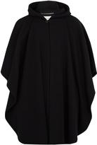 Saint Laurent Hooded wool cape