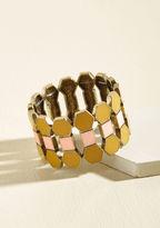 ModCloth Oh Geo My Bracelet in Saffron