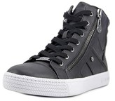 G by Guess Maker Women Round Toe Leather Black Sneakers.