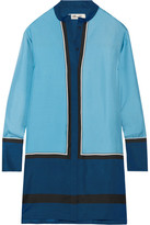 Diane von Furstenberg Silk-twill Mini Shirt Dress - Blue