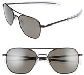 Randolph Engineering Men's 55Mm Polarized Aviator Sunglasses - Matte Black