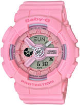 Baby-G Women's Analog-Digital Pink Resin Strap Watch 44mm
