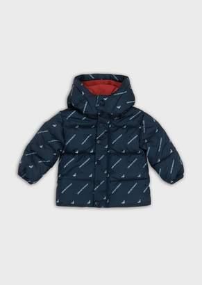 Emporio Armani Nylon Jacket With All-Over Logo