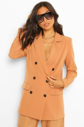 boohoo Tailored Long Line Double Breasted Blazer