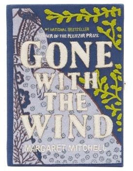 Olympia Le-Tan Gone With The Wind Embroidered Book Clutch - Blue Multi