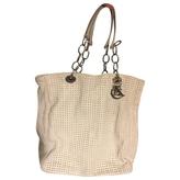 Christian Dior White leather soft tote bag
