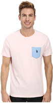 U.S. Polo Assn. Crew Neck Color Block Pocket T-Shirt