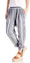 Sole Society Yarn Dye Linen Stripe Jogger